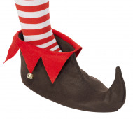 Zapatos de duende de Navidad adulto