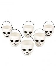 Lote de seis vasos en forma de calavera ideales para Halloween