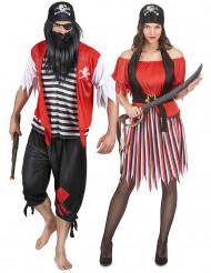 Disfraz de pareja de piratas de los océanos