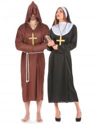 Disfraz de pareja de monje y monja