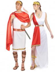 Disfraz de pareja de romanos con cinta