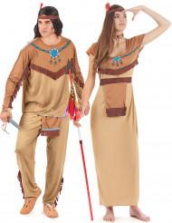 Disfraz de pareja de indios para adultos