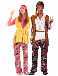 Disfraz de pareja de hippies Be Happy