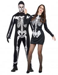 Disfraz de pareja de esqueletos ideal para Halloween