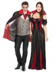 Disfraz de pareja de vampiros Halloween