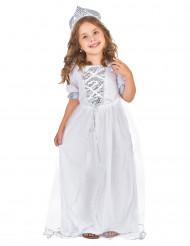 Disfraz plateado de princesa para niña