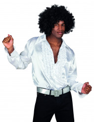 Camisa blanca estilo disco para adulto