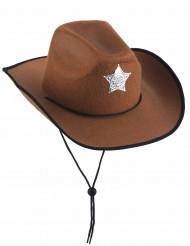 Sombrero marrón de sheriff para hombre
