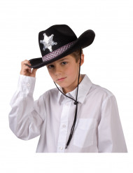 Sombrero negro de sheriff para adulto