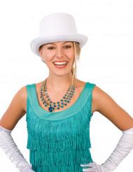 Sombrero de copa de gala color blanco para adulto
