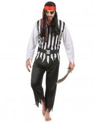 Disfraz de pirata para hombre blanco y negro