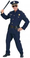 Disfraz de policía para hombre azul