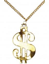 Collar con símbolo del dólar