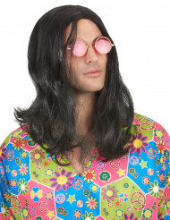 Peluca de hippie para hombre