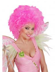 Peluca rosa de hada para mujer
