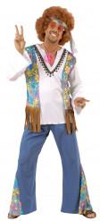 Disfraz de hippie completo para hombre