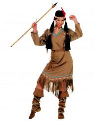 Disfraz de india largo para mujer