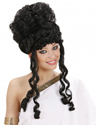 Peluca negra de diosa para mujer