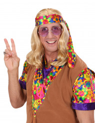 Peluca rubia hippie para hombre