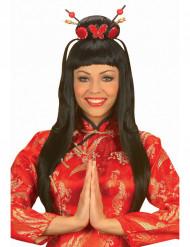 Peluca china girl para mujer
