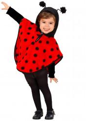 Disfraz de mariquita en forma de poncho para niña