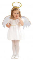 Disfraz de ángel niña aureola