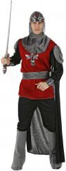 Disfraz rojo y negro de caballero para hombre