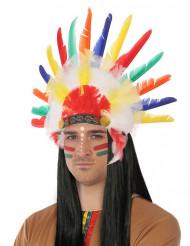 Corona de indio multicolor para adulto