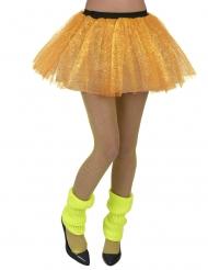 Minifalda amarilla fluorescente para mujer