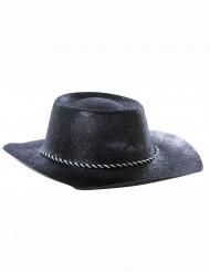 Sombrero negro de vaquera con lentejuelas