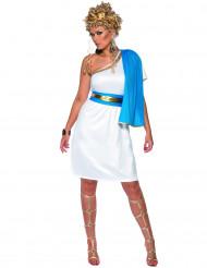 Disfraz de romana para mujer azul