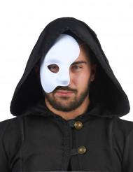 Máscara blanca de medio rostro
