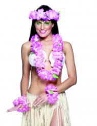 Kit hawaiano rosa para mujer