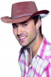 Sombrero marrón de vaquero para hombre