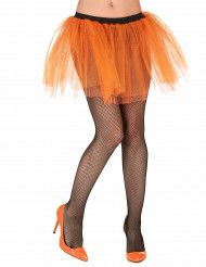 Minifalda naranja fluorescente para mujer