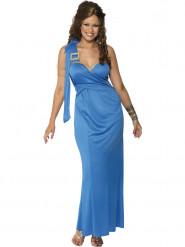 Disfraz de vestido azul de griega para mujer