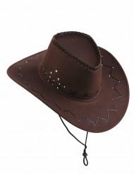 Sombrero marrón de vaquero adulto