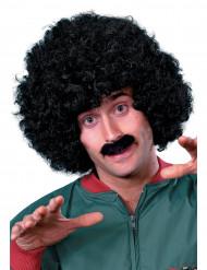 Peluca negra con bigote