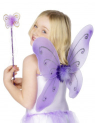 Kit de mariposa violeta para niña