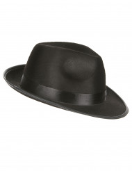 Sombrero negro de gánster