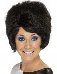 Peluca negra beehive para mujer