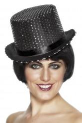 Sombrero negro con lentejuelas