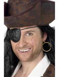 Pendiente y parche de pirata