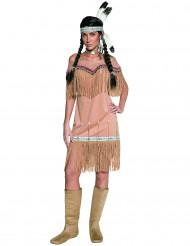 Disfraz de india beis para mujer