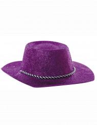 Sombrero de vaquera azul con lentejuelas