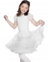 Faldita blanca para niña