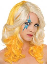 Peluca rubia y amarilla de Lady Gaga™ para mujer