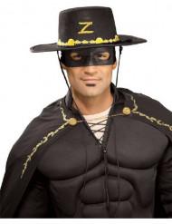 Sombrero + máscara de El Zorro™ para adulto