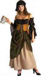 Disfraz de tabernera de lujo para mujer