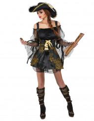 Disfraz de pirata de lujo para mujer